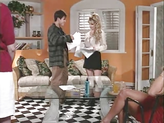 OLIVIA scene from blonde in the blue flannel